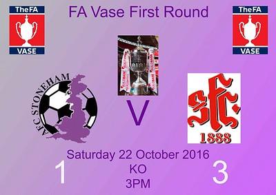 AFC Stoneham (1) v Shaftsbury (3) FA Vase 1st Rnd 22.10.2016