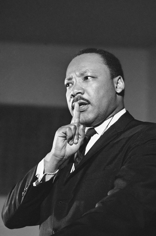 . Civil rights leader Dr. Martin Luther King, Jr., speaks in Alabama, Feb. 1968. (AP Photo/Charles Kelly)