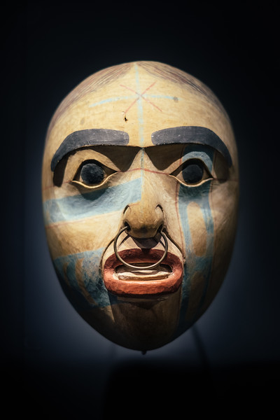 An ancient mask at the Musee d'ethnographie Geneva
