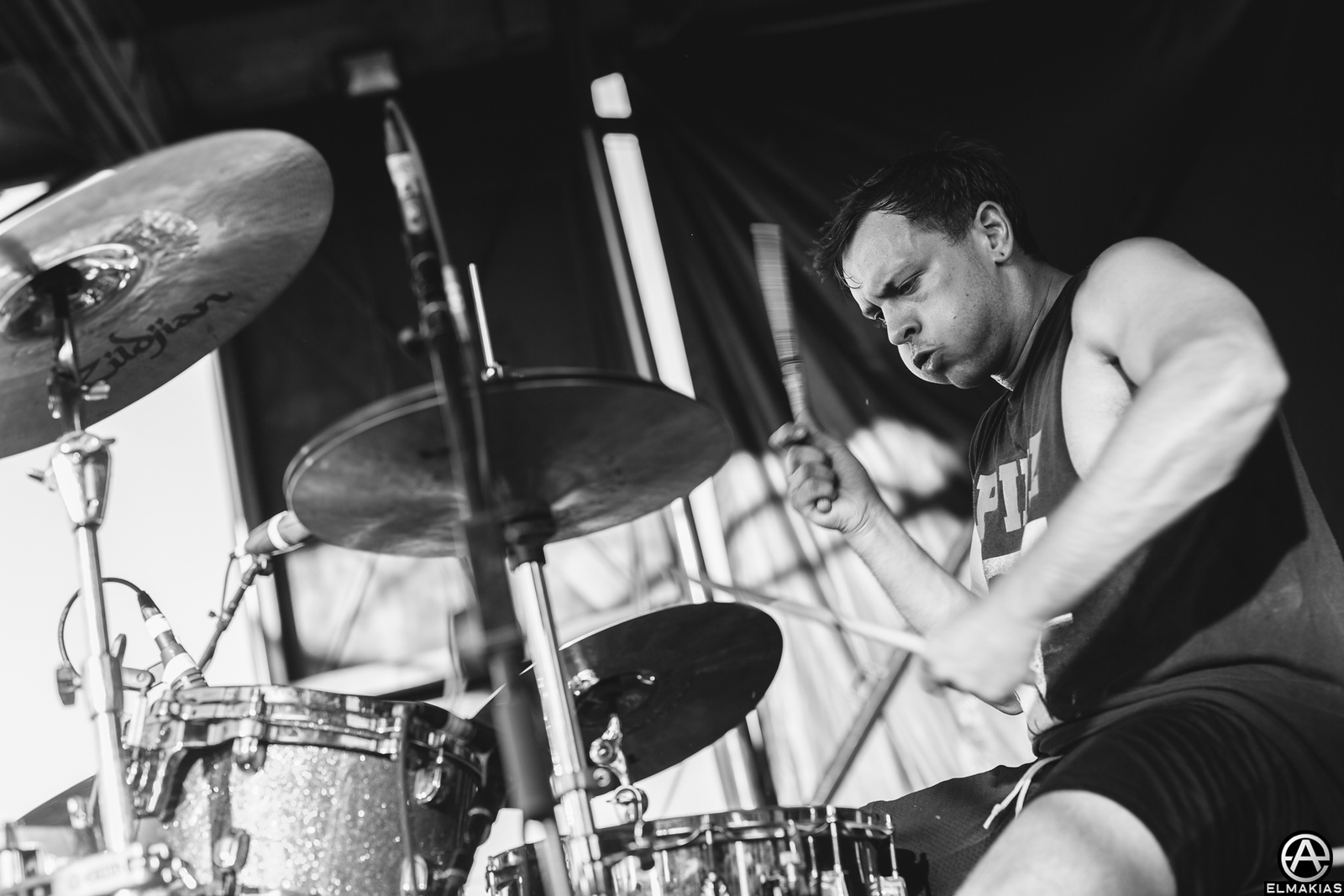 Jake Duhaime of Citizen live at Vans Warped Tour 2015 by Adam Elmakias