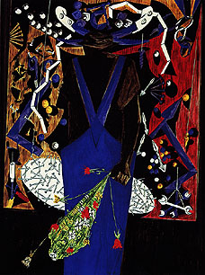 "Jacob Lawrence, ""Man With Flowers,"" 1954"