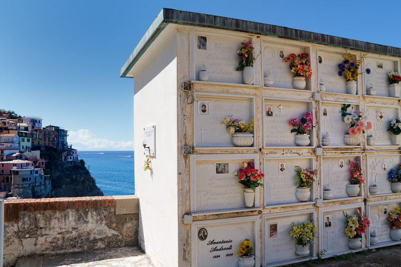Beautiful cemetery of Manarola.