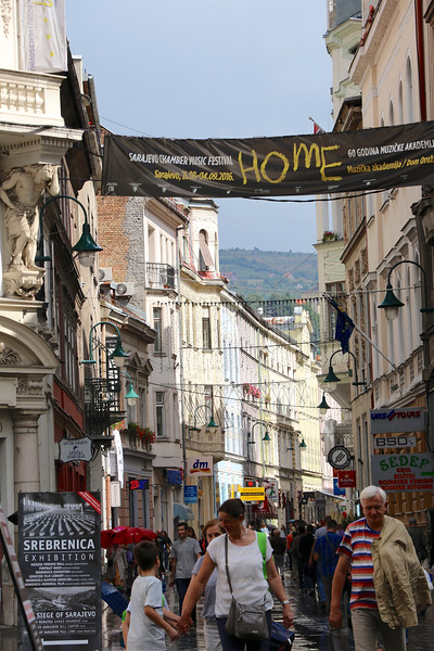 Ferhadija Pedestrian Street - Sarajevo, Bosnia and Herzegovina