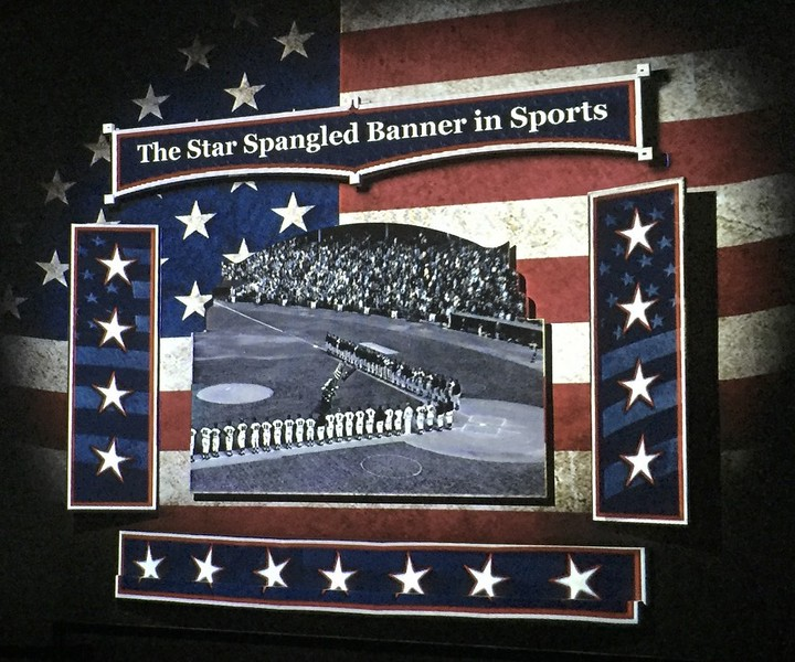 They first began playing the Star Spangled Banner at sporting events during one of the World Series games back in the 1920s.