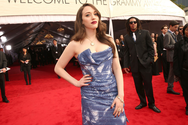 . Actress Kat Dennings attends the 55th Annual GRAMMY Awards at STAPLES Center on February 10, 2013 in Los Angeles, California.  (Photo by Christopher Polk/Getty Images for NARAS)