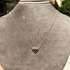 1.32ct Vintage Sapphire Bezel Necklace 13