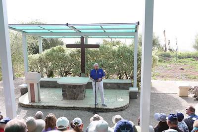 Mount of Beatitudes, Caesarea Philippi, Tel Dan, Baptism in Sea of Galilee 3-9-16