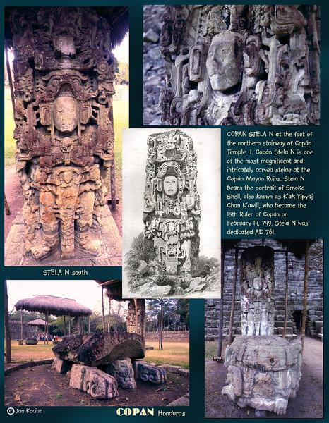 Stela N. Copan ruins, Honduras. February 27, 1987