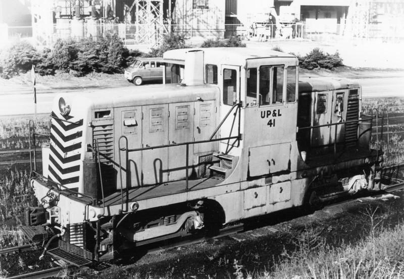 Utah Power & Light 41 (ex-D&RGW 41), Castle Gate, Utah, 1972. (Ken Ardinger Photo)