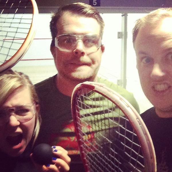 Racquetball! via Instagram http://ift.tt/1i19FOC