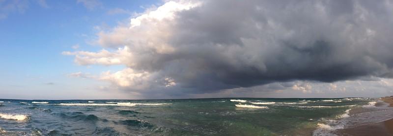beach panorama drama