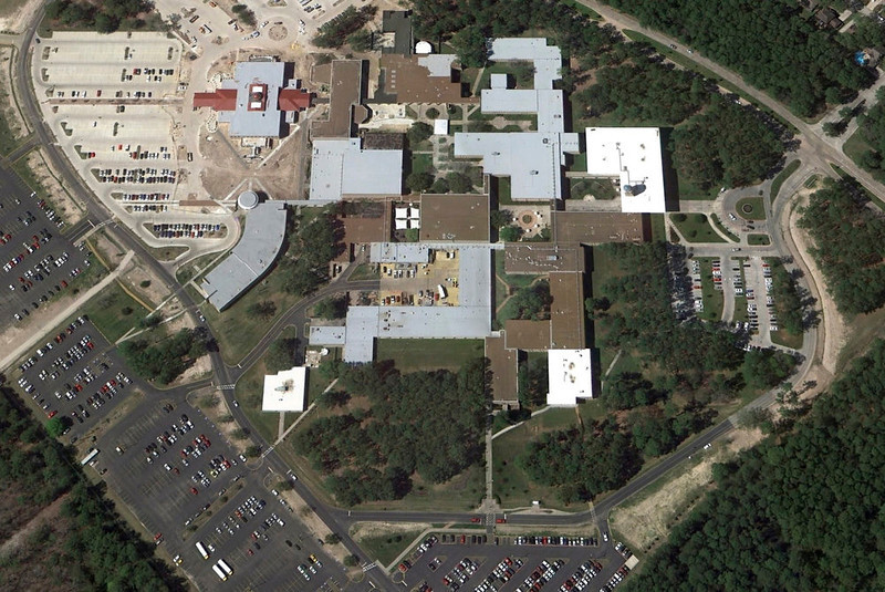 . The Lone Star College North Harris campus is seen in this undated satellite image courtesy of Google Earth. A person with a gun was on the campus of Lone Star College near Houston, Texas, but it was unclear if anyone had been shot, a spokesman for the school said Tuesday. REUTERS/Google Earth/Handout