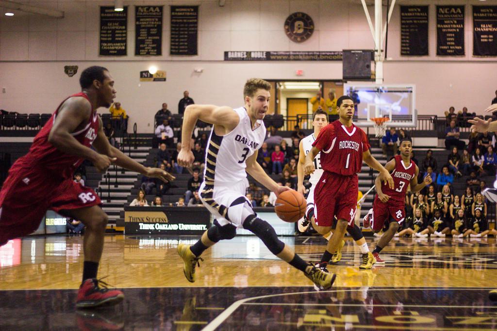 . Bader slides past his defender. Photo by Dylan Dulberg
