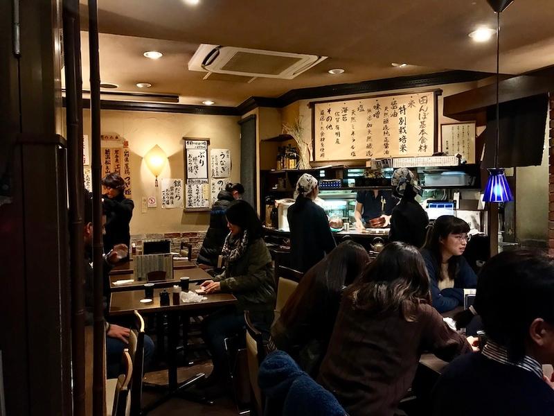 The interior of Ohitsuzen Tanbo Omotesando.