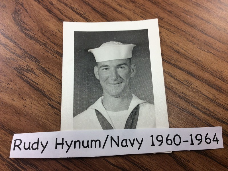 "Rudy Hynum, U.S. Navy, father of Deanna Hynum. Deanna says, ""Thanks, Dad, for your service to our country!"""