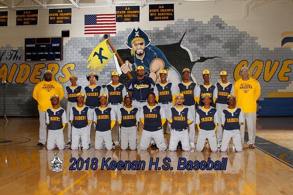 2018 Baseball Boys Varsity