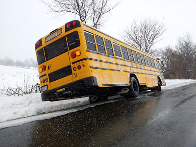12-20-2011 School Bus in the Ditch