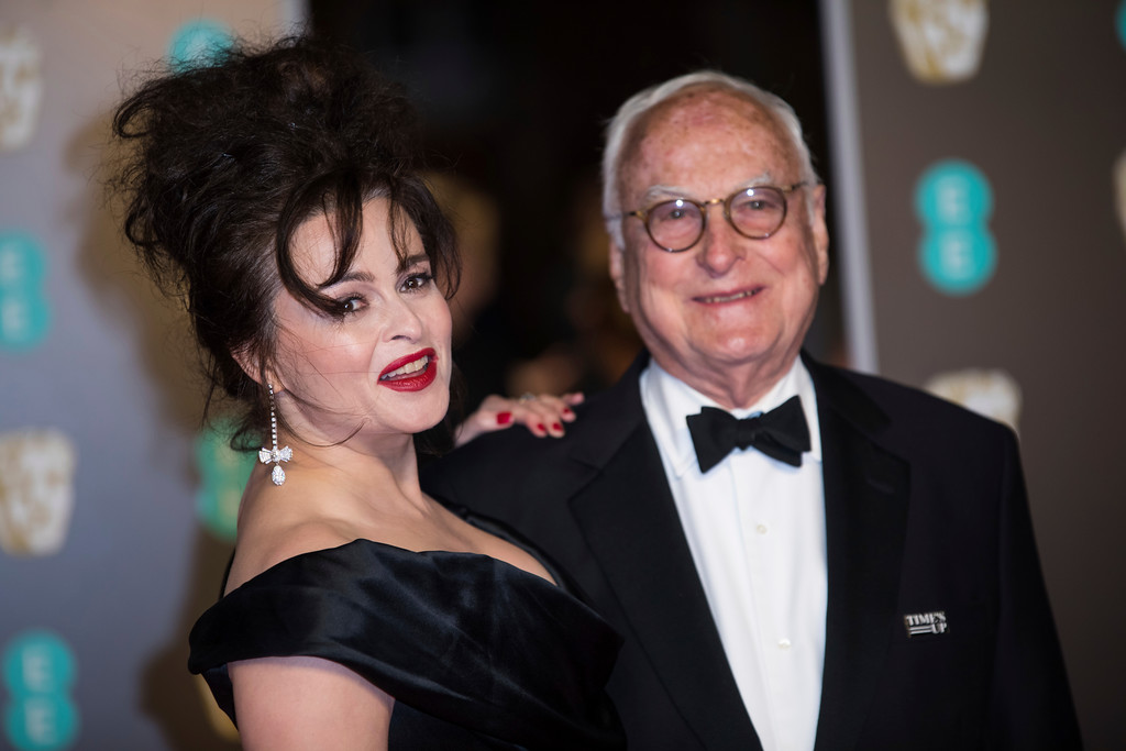 . James Ivory and Helena Bonham Carter pose for photographers upon arrival at the BAFTA Awards 2018 in London, Sunday, Feb. 18, 2018. (Photo by Vianney Le Caer/Invision/AP)
