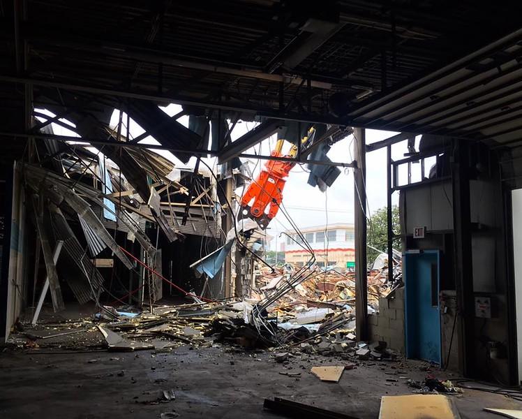 NPK M28K material processor on Komatsu excavator - commercial demolition - East Coast Demolition (2).jpg