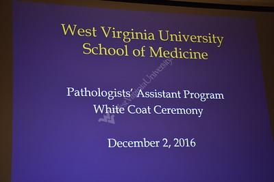 32896 Pathologists' Assistant White Coat Ceremony Class of 2017 Dec 2016