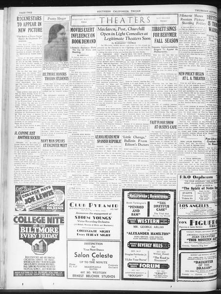 Daily Trojan, Vol. 23, No. 25, October 15, 1931