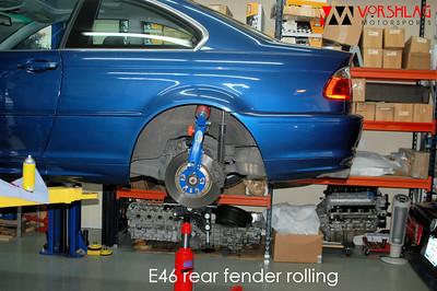 BMW E46 fender rolling & flares