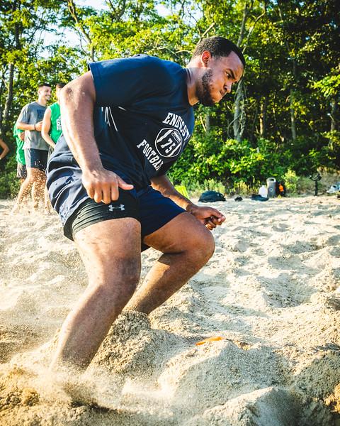 20190801 Endicott Football - Beach Workouts
