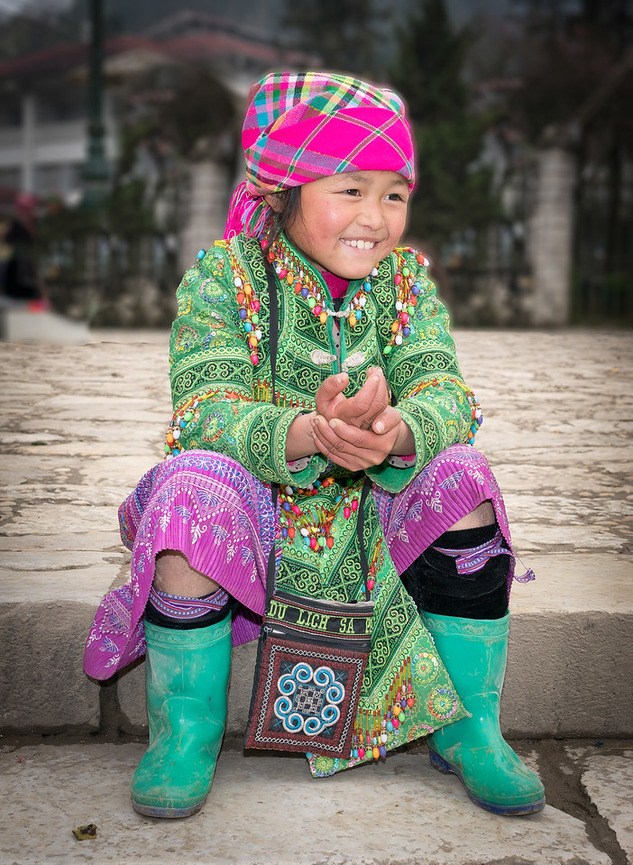 Hmong girl, Sapa, Vietnam