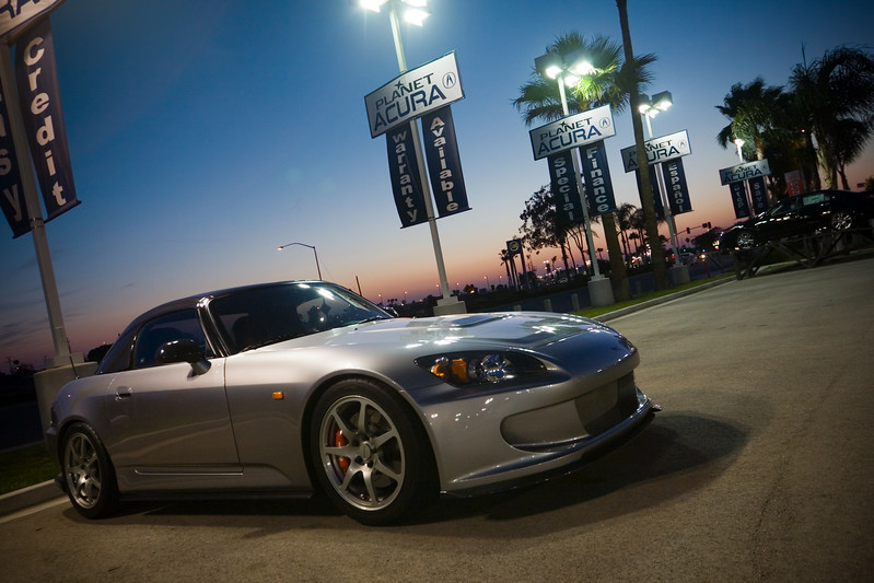 Tan's S2K practically has the lot to itself by the time Pete and I decide to leave