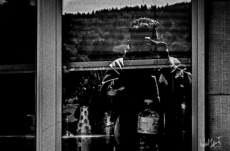 in the window #2  b&w