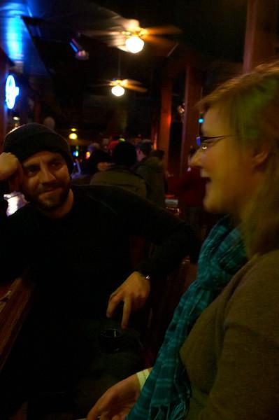 Post-show drinks at Barley's