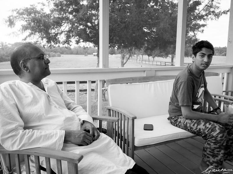 Kabir and Vikram, Ponds House, Virginia