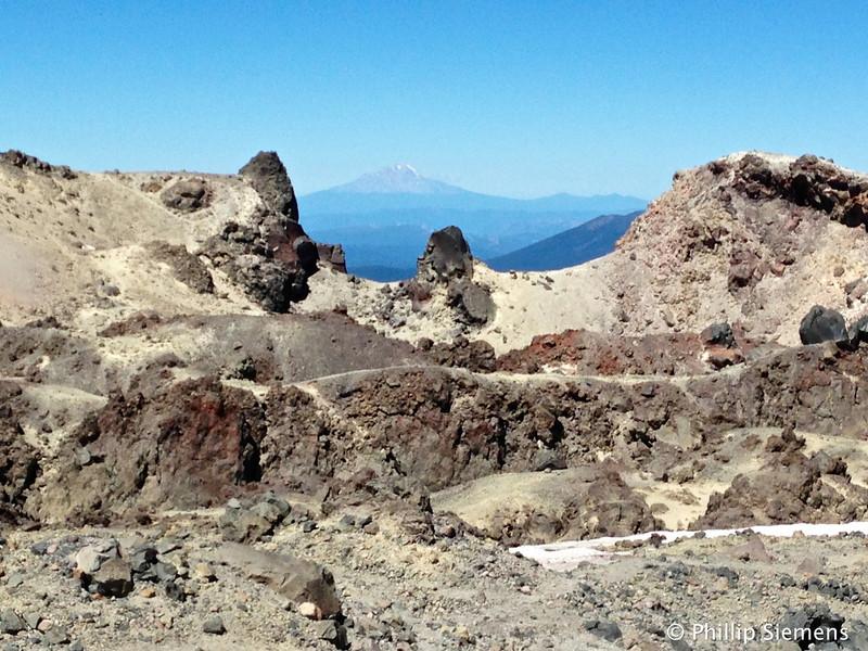 Summit lava framing Mt. Shasta