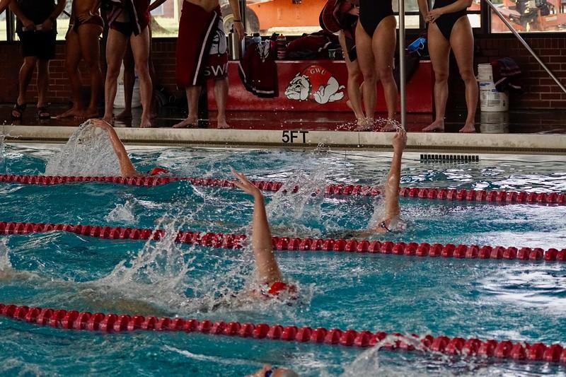 GWU Swiming Scrimmage