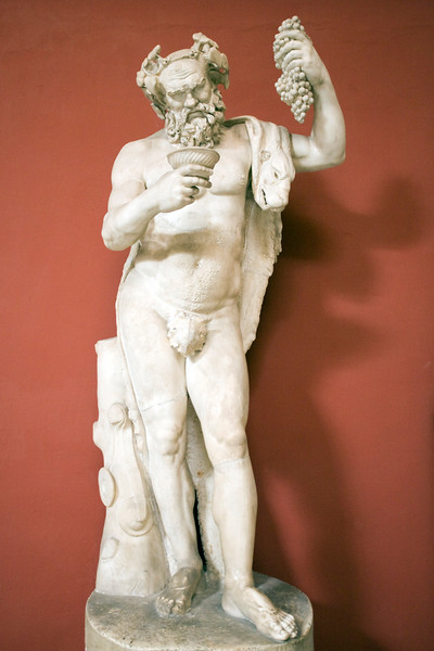 Statue of Silenus. Marble. Roman copy of the imperial era from a Hellenistic original. Rome, Vatican Museums, Pio-Clementine Museum, Room of the Muses.