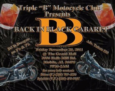 "Triple ""B"" MC Back In Black Cabaret"