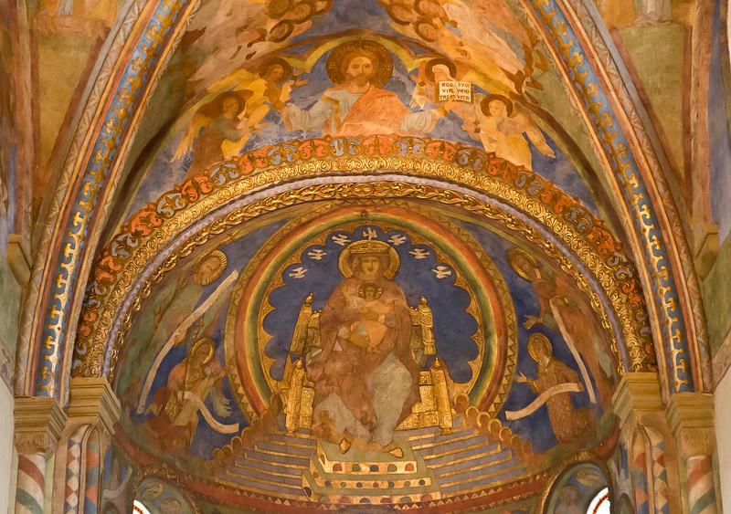 Goslar. Neuwerkkirche: Chor, Wandmalerei: Sedes sapientiae