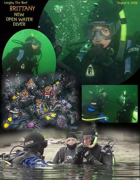 Open water certification dive, Langley Tire Reef. August 8, 2008