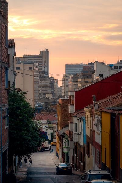 Bogota Street at Sunset