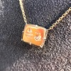 'For You I Live' 18kt Rose Gold Cast Rebus Pendant, by Seal & Scribe 28