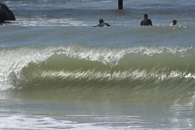 Hurricane Delta Venice Jetty