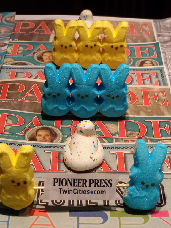 ". ""Peeps on PARADE,\"" by Kevin Hogan, Oakdale"