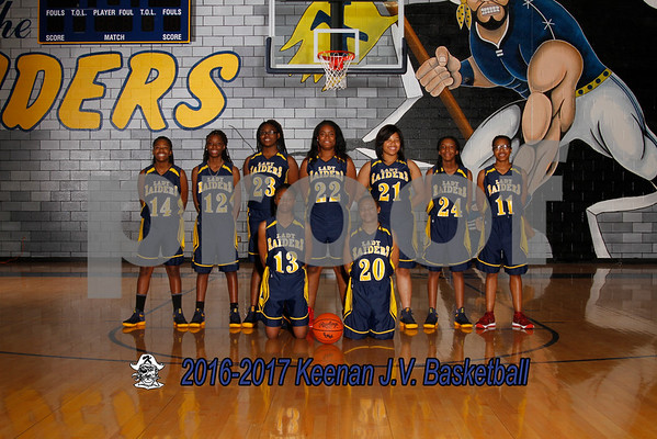 2016-2017 girls JV basketball