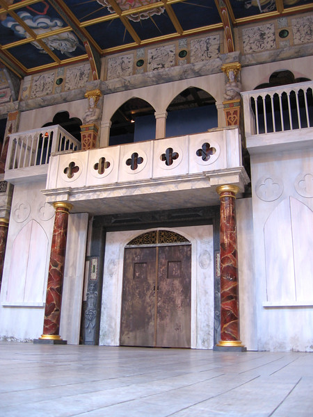 The stage of the new Globe Theater.