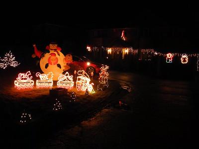Windswept Christmas lights