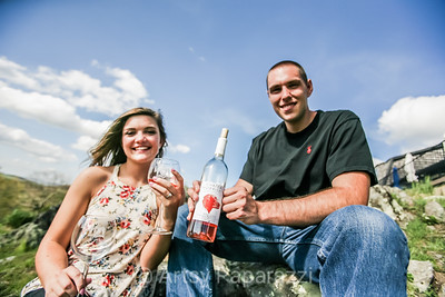 Carly & Ryan  Engagement Shoot - Chateau Morrisette