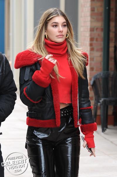 Camila Morrone Stylish in Sandro Paris Officiel and Petar Petrov, Utah