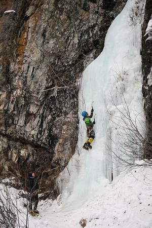 Hillside Pillars Ice Climbing 01/21/18