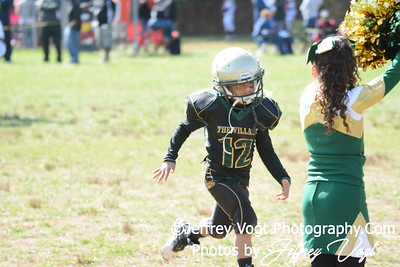 10-10-2015 Montgomery Village Sports Association Chiefs Mighty Mites Green vs Southern Maryland Eagles, Photos by Jeffrey Vogt Photography