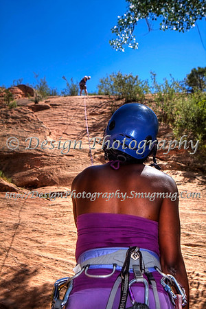 Vanessa Rock Climbing at Red Rocks open Space